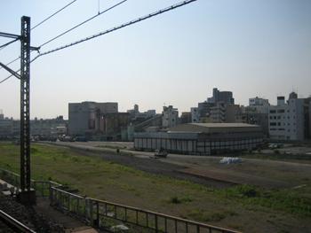 ひとまず以前の業平橋駅、押上連絡ホーム跡の引き込み線撤去終了のようです。